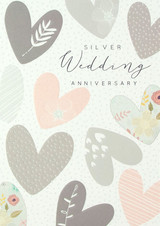 Gorgeous Silver Wedding Anniversary | Greeting Card - Laura Darrington