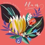 Happy Birthday Mum Floral Birthday Card - Laura Darrington