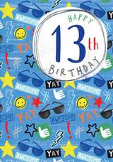 Special 13th Birthday Boy Greeting Card - Laura Darrington