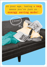 Energy Saving Mode Greeting Card by Frank by Name - Abacus Cards