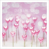 One in a Million  Wife Birthday Card - Icon Art
