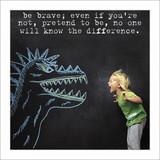 Be Brave Son Birthday Card - Icon Art