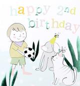 Happy 2nd Birthday Ball Kids Birthday Card - Caroline Gardner