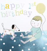 Happy 1st Birthday Dog Kids Birthday Card - Caroline Gardner