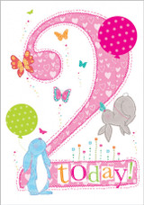 2 Today Kids Greeting Card  - Abacus Cards