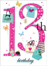 13 Today Kids Greeting Card  - Abacus Cards