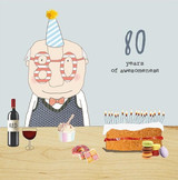 80th Birthday Card - Rosie Made a Thing
