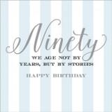 90th Birthday Card - Abacus Cards