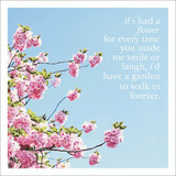 If I had a Flower Inspirational Greeting Card - Icon Art