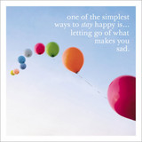 Stay Happy  Inspirational Greeting Card - Icon Art