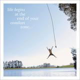 Life Begins Inspirational Greeting Card - Icon Art
