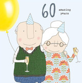 60th Anniversary Greeting  Card - Rosie Made a Thing