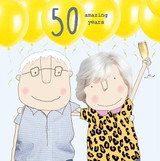 50th Anniversary Greeting  Card - Rosie Made a Thing