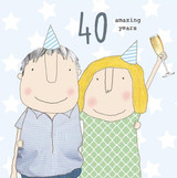 40th Anniversary Greeting  Card - Rosie Made a Thing