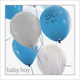 Baby Boy Balloons Greeting Card - Icon Art