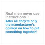 Real Men Birthday Card - Icon Art