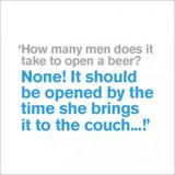 How Many Men?  Birthday Card - Icon Art