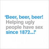 Beer, Beer, Beer! Funny Birthday Card - Icon Art
