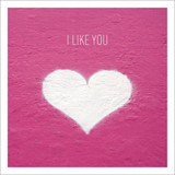 I Like You Greeting Card - Icon Art