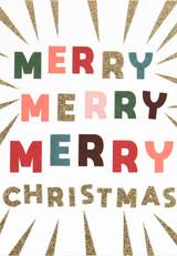 Merry Merry Merry Christmas Cards - Caroline Gardner