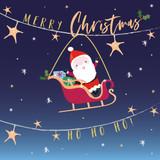 Christmas Santa Christmas Card Pack - Belly Button Design