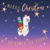 Fa Llama Christmas Card Pack - Belly Button Design