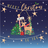 Reindeer Christmas Card Pack - Belly Button Design