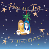 Peace & Joy Christmas Card Pack - Belly Button Design