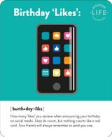 Birthday Likes Quirky Birthday Card - Mint Publishing