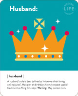 Husband  Birthday Card - Mint Publishing