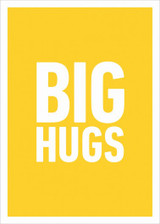 Send someone you love a Big Hug with this prefect greeting card from Icon Art's Yes No Maybe range. Lots of other fabulous quirky & cool cards available in the Wonky Tree store.