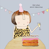 One year more Fabulous Birthday Card - Rosie Made a Thing