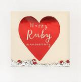 Ruby Wedding Anniversary Shakies Greeting Card - James Ellis