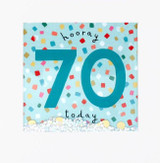Hooray 70th Birthday Shakies Greeting Card - James Ellis