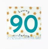 Hooray 90th Birthday Shakies Greeting Card - James Ellis
