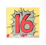 Kapow 16th Birthday Shakies Greeting Card - James Ellis