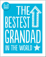 The Best Grandad Greeting Card - Bluebell 33
