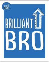Brilliant Bro Greeting Card - Bluebell 33