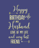 Husband Love of my life Birthday Greeting Card - Bluebell 33