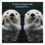 If You're Happy & You Know it Humour  Birthday Card - Icon Art Company