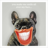 You Make Me Smile Birthday Card - Icon Art Company