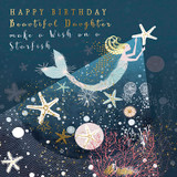 Make a Wish on a Starfish Daughter Greeting Card - Real & Exciting Designs