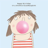 Bonkers granddaughter Birthday Card - Rosie Made a Thing