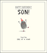 Happy Birthday Son Greeting Card Etched - Pigment Productions