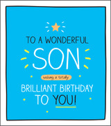 Wonderful Son Birthday Card Happy Jackson - Pigment Productions