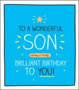 Wonderful Son Birthday Card Happy Jackson - Pigment Productions