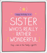 Wonderful Sister Birthday Card Happy Jackson - Pigment Productions