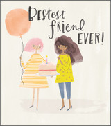 Bestest Friend Greeting Card - Pigment Productions