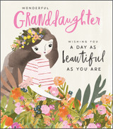 Wonderful Granddaughter Greeting Card - Pigment Productions