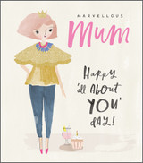 Marvellous Mum Greeting Card - Pigment Productions